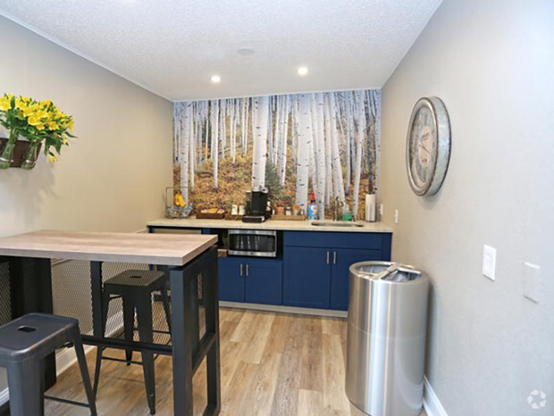 Clubhouse Kitchen | Forest Cove Apartments for rent
