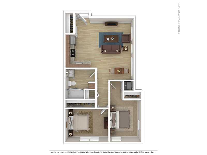 Our B1 is a 2 Bedroom, 1 Bathroom Apartment