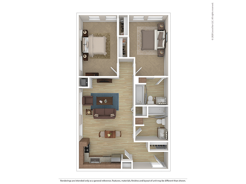 Our B2L is a 2 Bedroom, 2 Bathroom Apartment