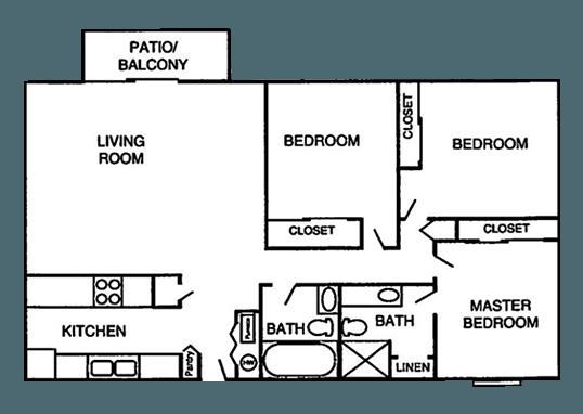 Floorplan for Falcon Run Apartments
