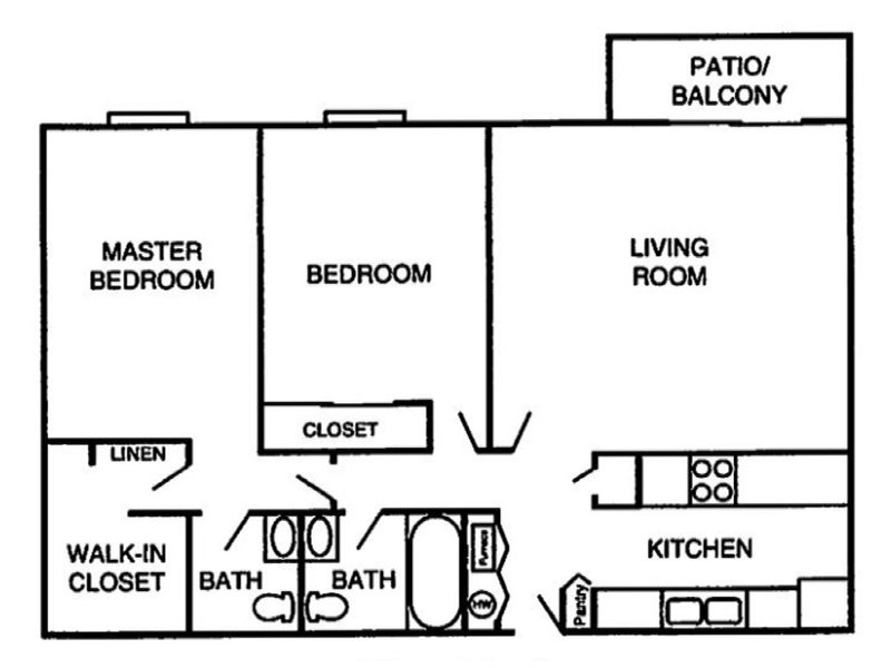 Our 2 bedroom 2 bathroom is a 2 Bedroom, 2 Bathroom Apartment