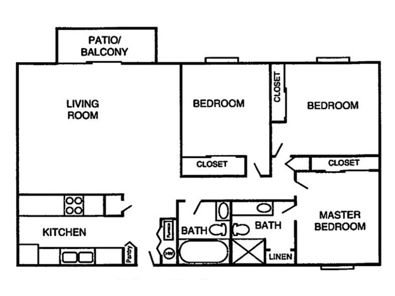 Our 3 bedroom 2 bathroom is a 3 Bedroom, 2 Bathroom Apartment