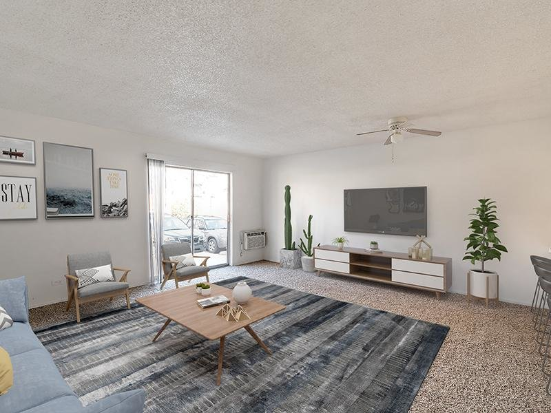 Model Front Room   Falcon Run Apartments