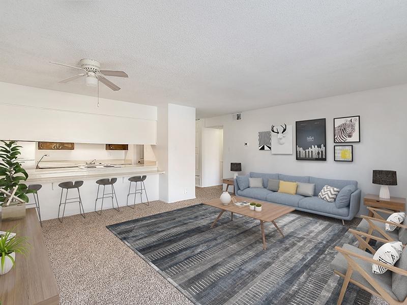 Model Living Room | Falcon Run Apartments