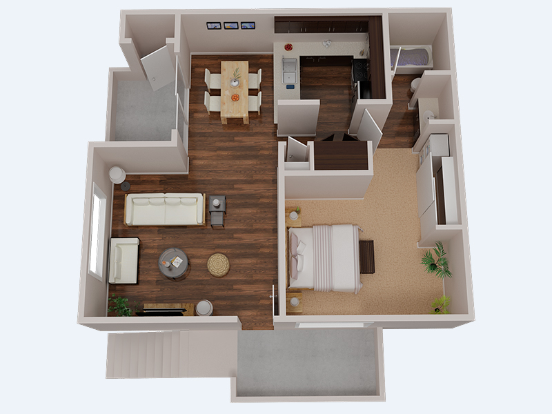 Floor Plans at The Creek @2645 Apartments