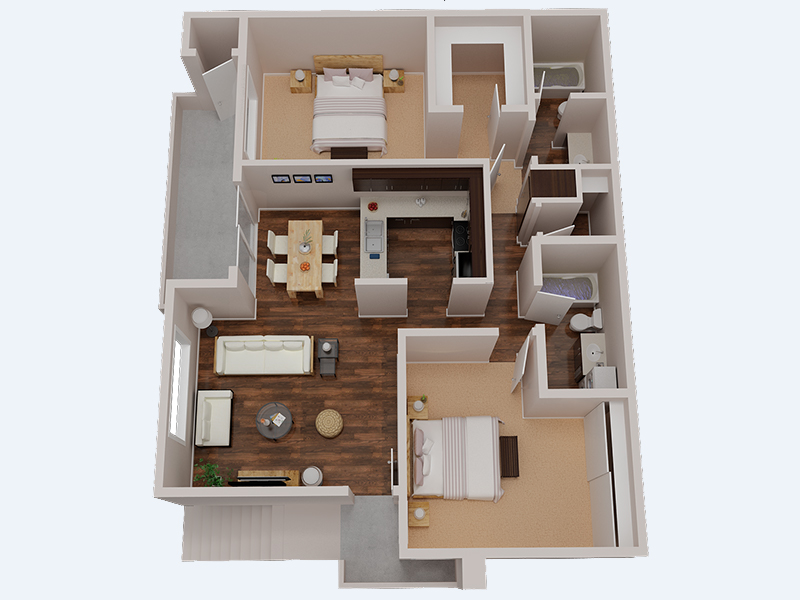 Floor Plans at The Creek at 2645 Apartments