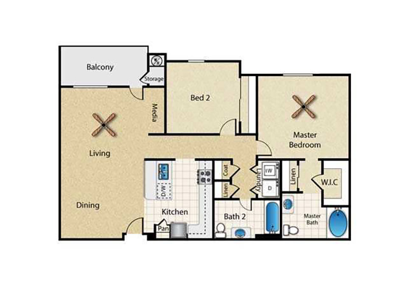 Floor Plans at Spectrum Apartments