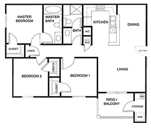 Floorplan for Alhambra at Mace Ranch Apartments