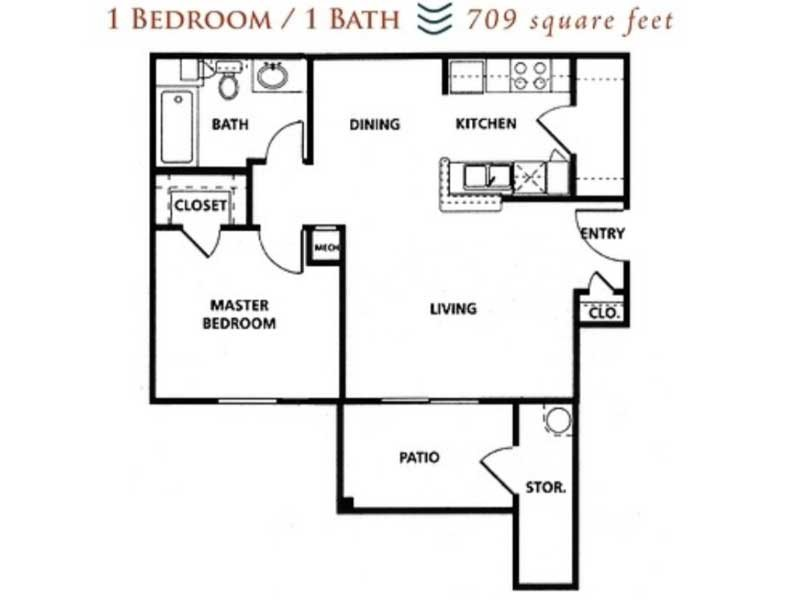 Our 1x1 60% is a 1 Bedroom, 1 Bathroom Apartment