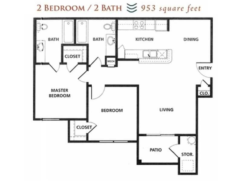 Our 2x250BOND is a 2 Bedroom, 2 Bathroom Apartment
