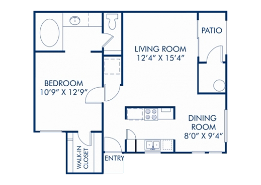 Floorplan for Montecito Pointe Apartments