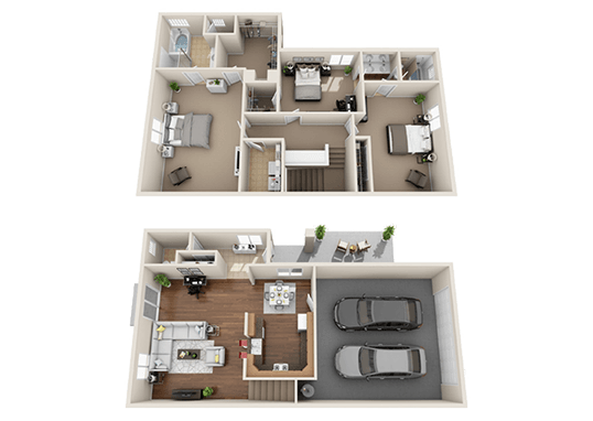 Floorplan for Suncrest Townhomes Apartments