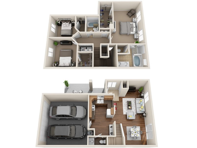 Our M is a 3 Bedroom, 2.5 Bathroom Apartment