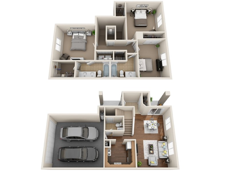 Our S is a 3 Bedroom, 2.5 Bathroom Apartment