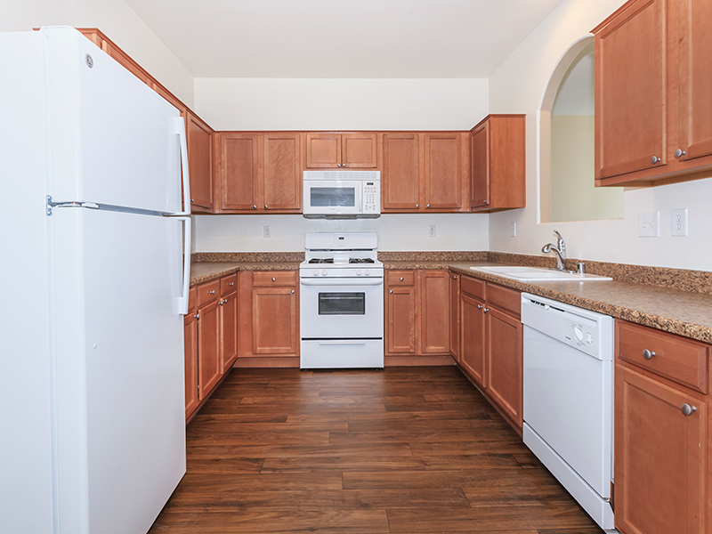 Fully Equipped Kitchen | Suncrest Townhomes in Las Vegas, NV
