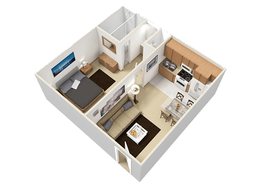 Floorplan for Boulder Palms Apartments