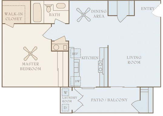 Floorplan for 80 On Gibson Apartments