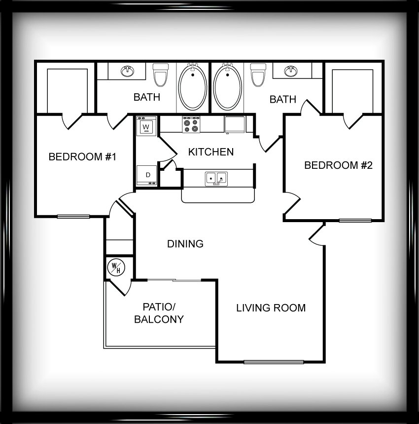 Floor Plans at Chapel Hill Apartments