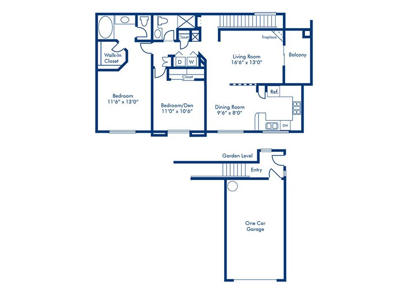 Floor Plans at Parkway Townhomes Apartments