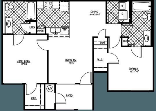 Floorplan for Vintage Pointe Apartments
