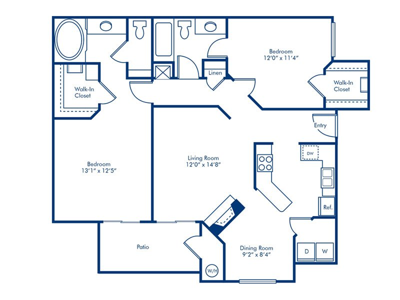 Floor Plans at Vintage Pointe Apartments