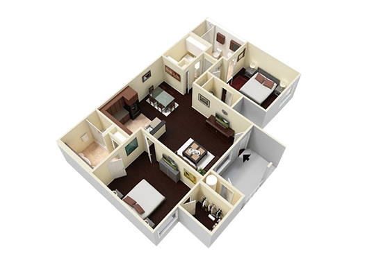 Floorplan for Lyric Apartments