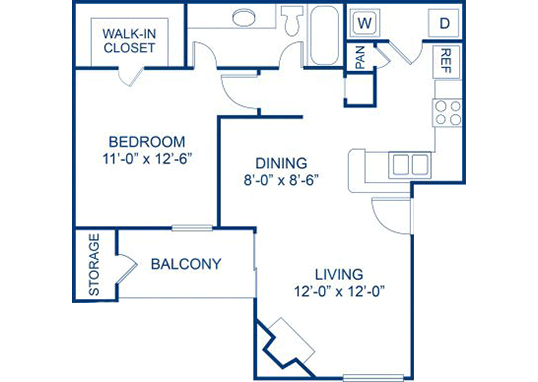 Floorplan for Bella Solara Apartments