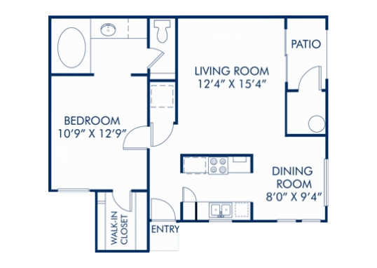 Floorplan for The Commons Apartments