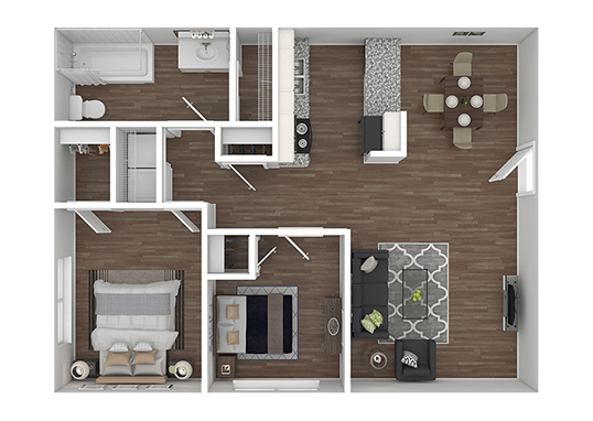 Floorplan for Holladay on Ninth Apartments