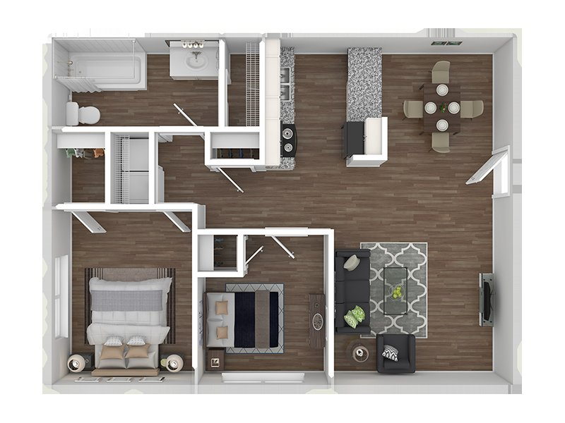 Floor Plans at Holladay on Ninth Apartments