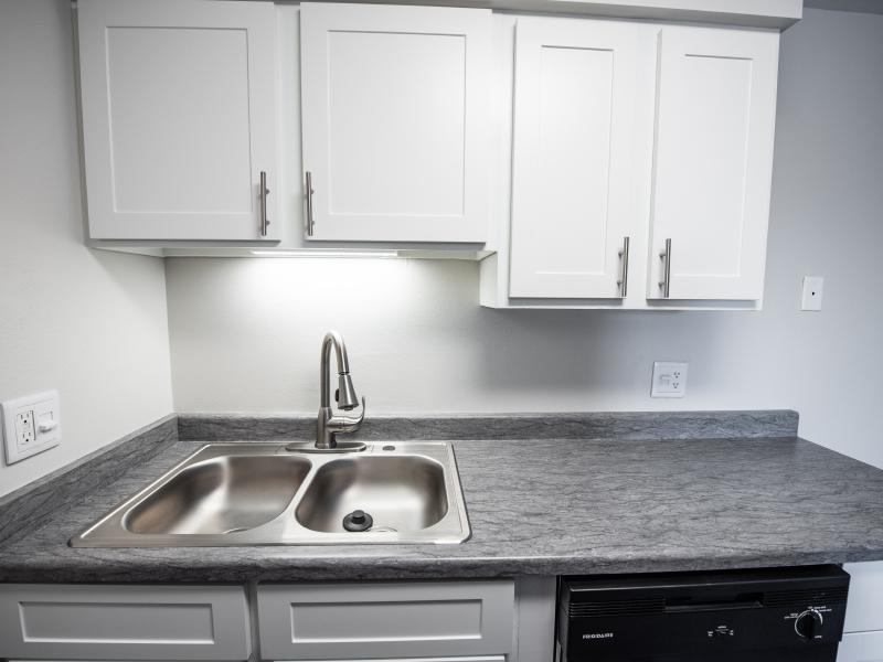 Kitchen Sink and Counters | Holladay on Ninth Apartments in Salt Lake City UT