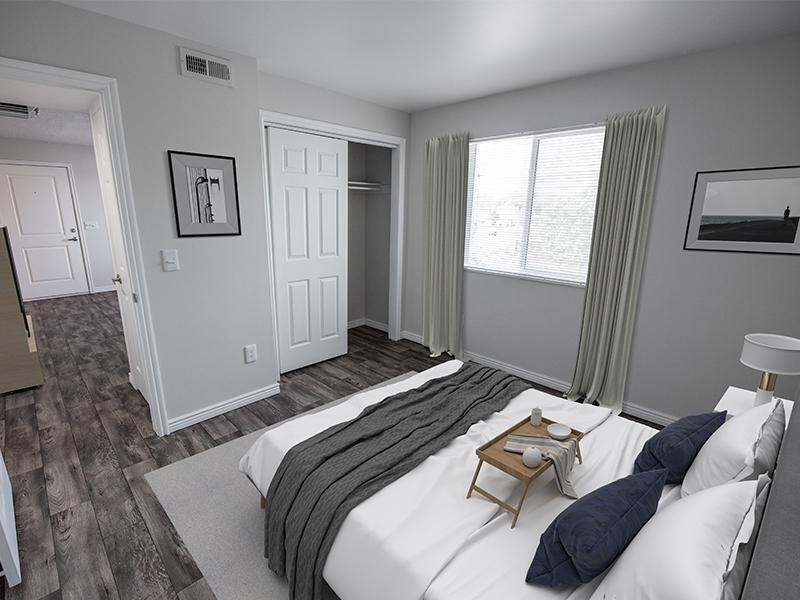 Decorated Model Bedroom | Holladay on Ninth Salt Lake City Apartments