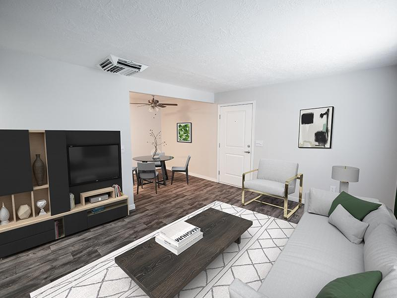 Decorated Model Living Area | Holladay on Ninth Salt Lake City Apartments