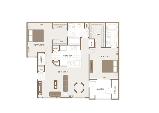 Floorplan for Remington Ranch Apartments