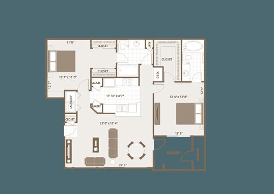Floorplan for Remington Ranch Apartments