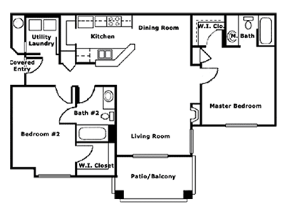 Floorplan for Lindsay Palms Apartments