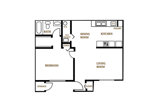 Floorplan for Falcon Glen Apartments