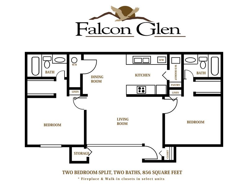 Floor Plans at Falcon Glen Apartments