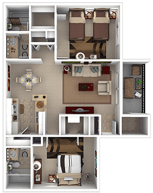 Floorplan for Garden Place Apartments