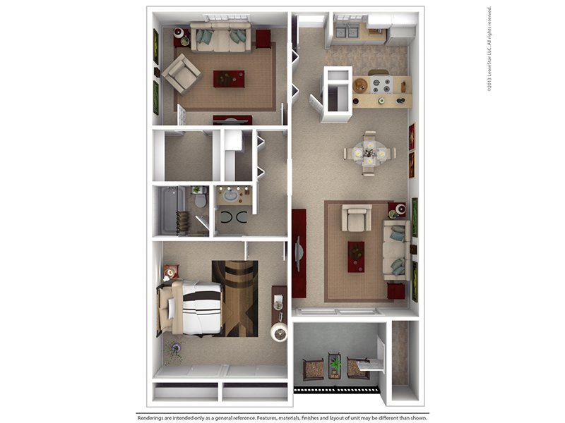 Floor Plans at Garden Place Apartments