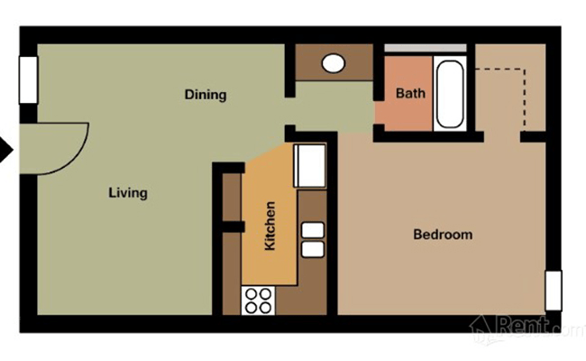 Floorplan for Arcadia on 49th Apartments