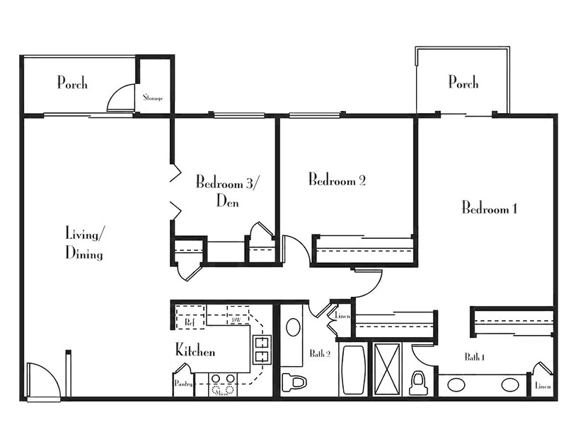 Floorplan for Villages at Metro Center Apartments
