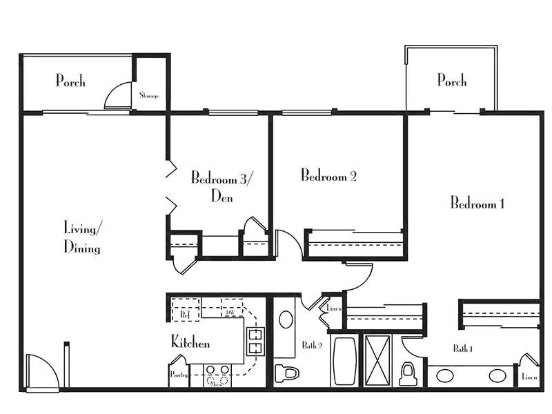 Floorplan for Villages at Metro Center Apartments