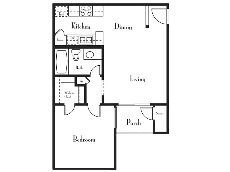 Our 1 Bedroom 1 Bath B is a 1 Bedroom, 1 Bathroom Apartment