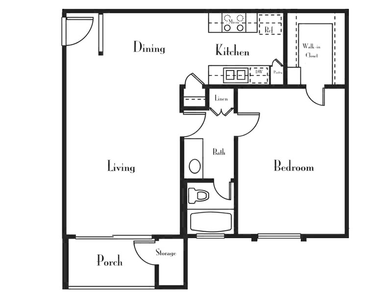 Our 1 Bedroom 1 Bath C is a 1 Bedroom, 1 Bathroom Apartment