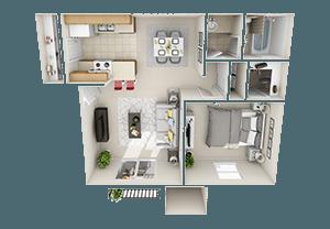 Floorplan for Avia 266 Apartments