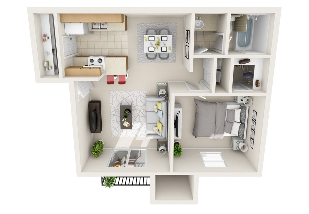 Our Aileron is a 1 Bedroom, 1 Bathroom Apartment