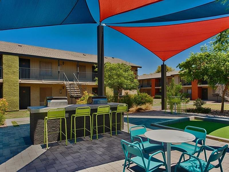 Exterior Patio | Avia 266 Apartments