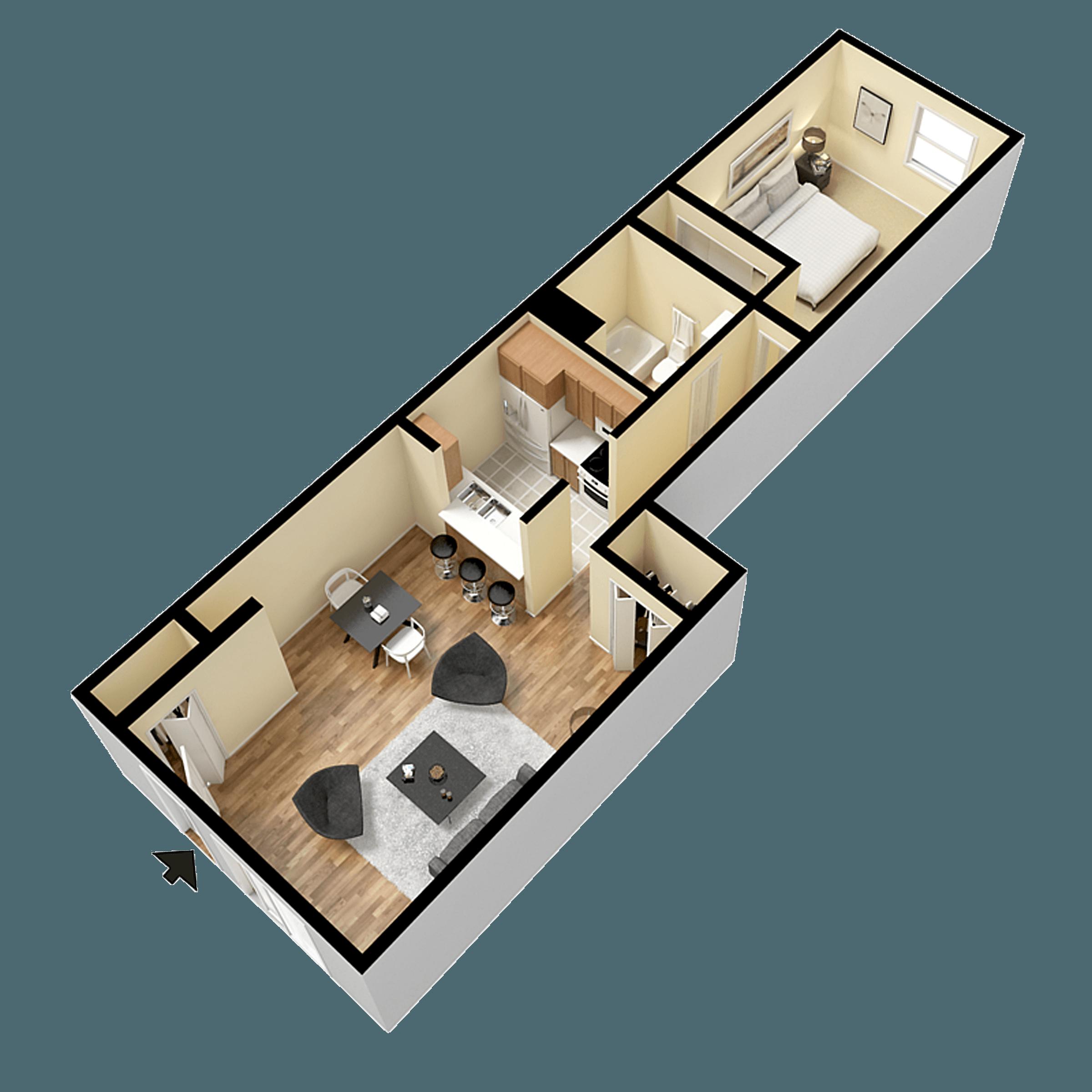 Floorplan for Verona Park Apartments
