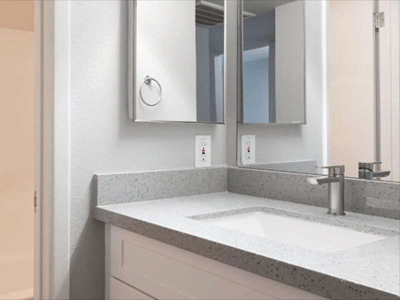 Renovated Bathroom | Plaza 550